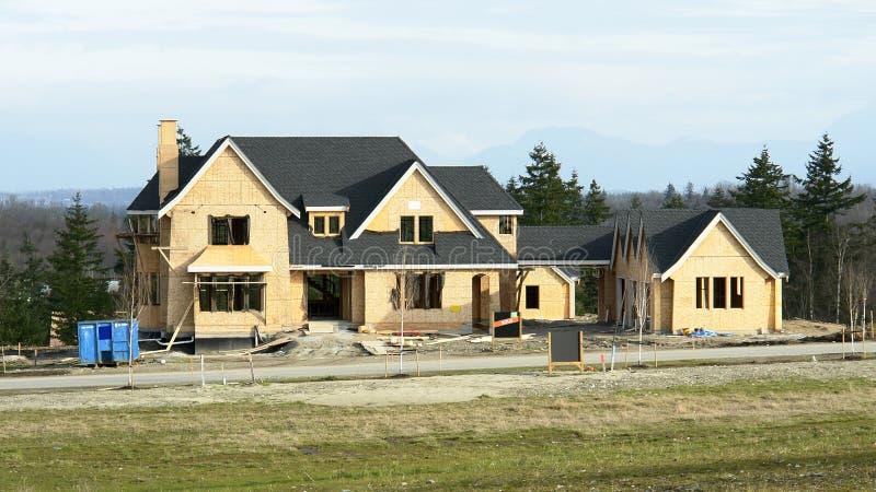 nytt home hus för konstruktion royaltyfri foto