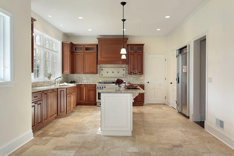 nytt home kök för konstruktion arkivfoto