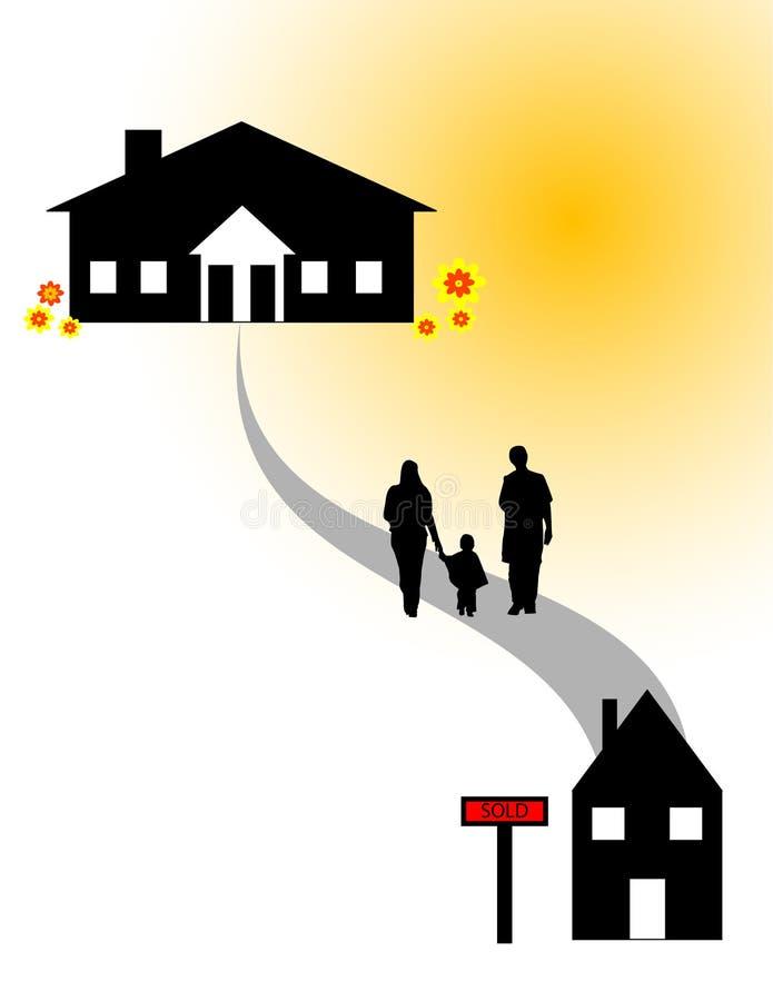 nytt hus stock illustrationer