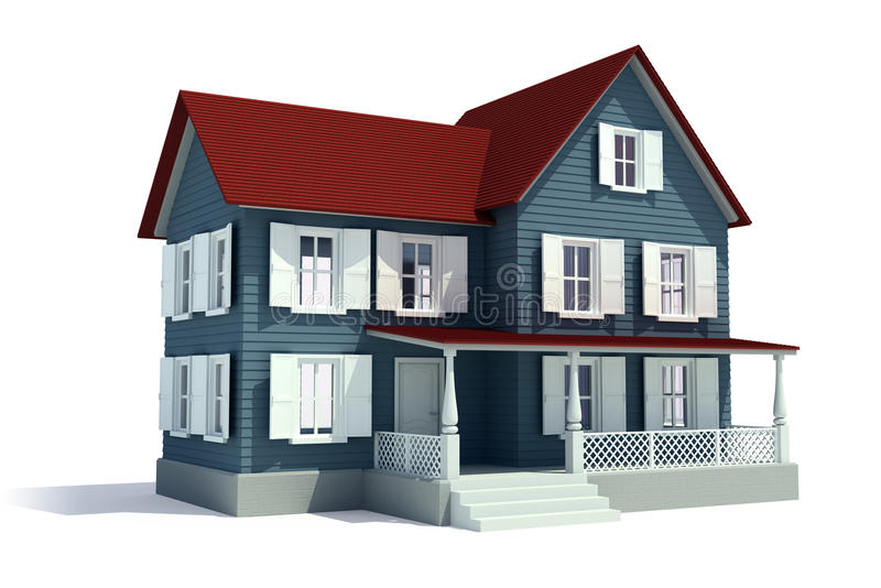 nytt hus 3d vektor illustrationer