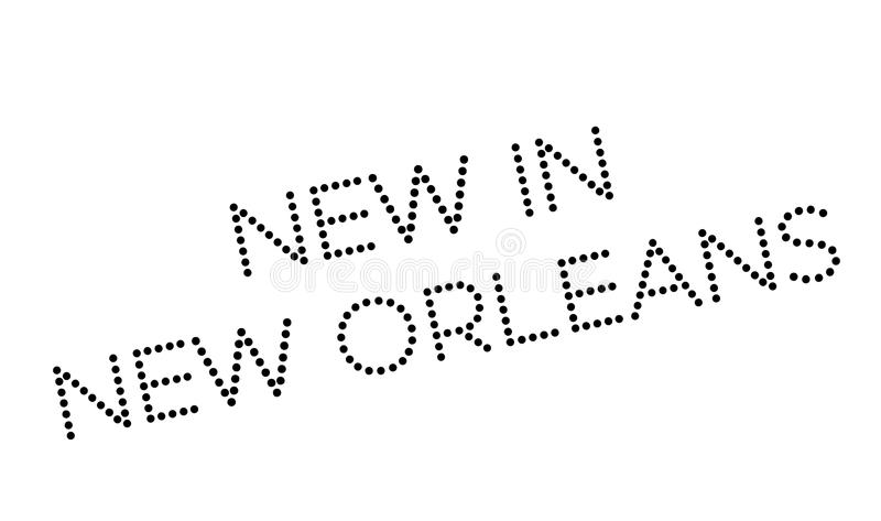 Nytt i New Orleans den rubber stämpeln royaltyfri illustrationer