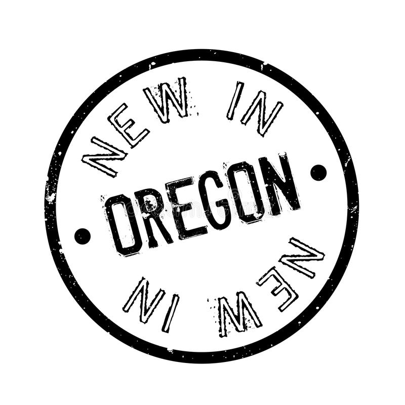 Nytt i Oregon den rubber stämpeln stock illustrationer