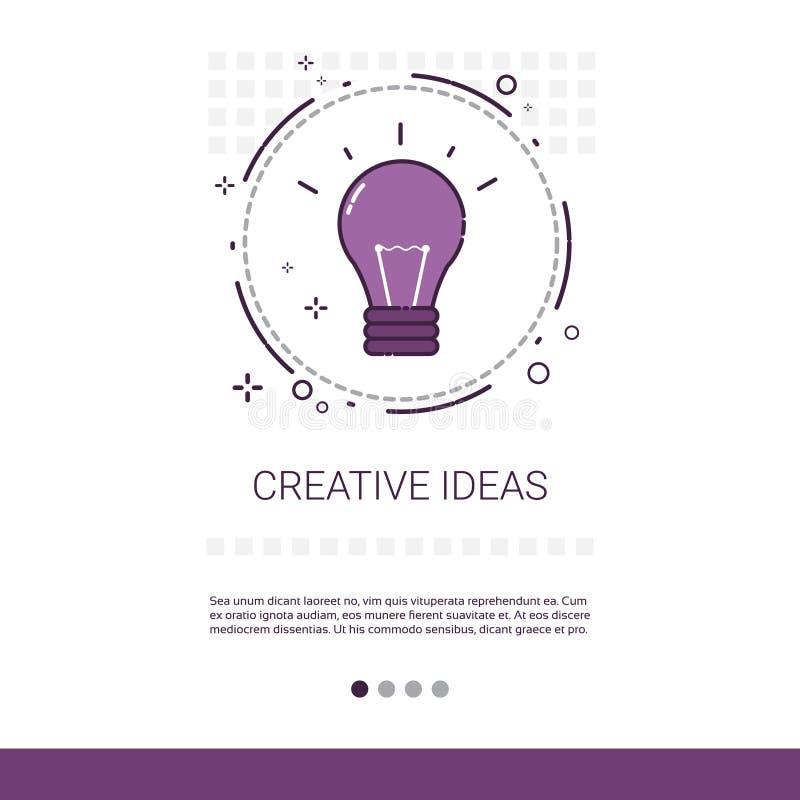 Nytt idérikt idéinnovationbaner med kopieringsutrymme royaltyfri illustrationer