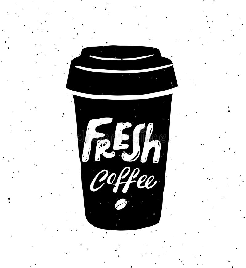 Nytt kaffe stock illustrationer