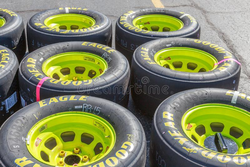 Nytt klart Goodyear Eagle Racing Tires NASCAR lopp arkivfoto