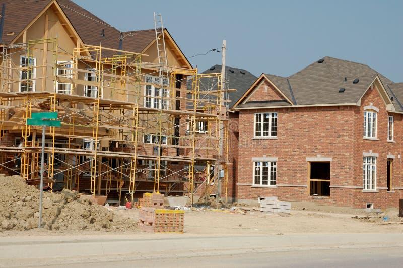 nytt konstruktionshus arkivfoto