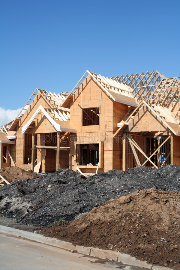 nytt konstruktionshus arkivbilder
