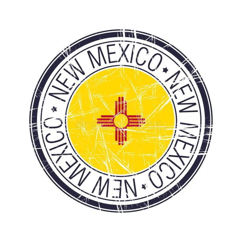 Nytt - Mexiko rubber st?mpel royaltyfri illustrationer