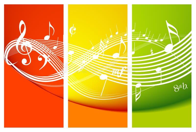 nytt musiktema stock illustrationer