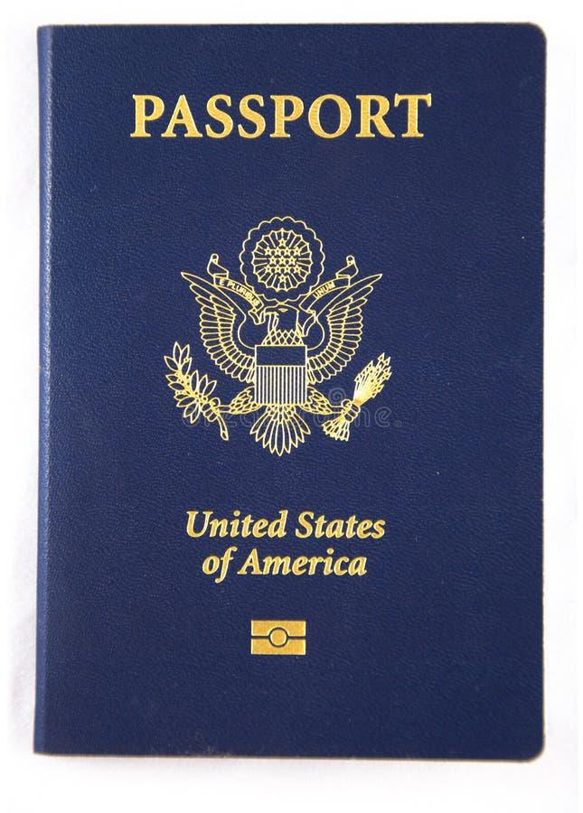 nytt pass USA för bok royaltyfri foto