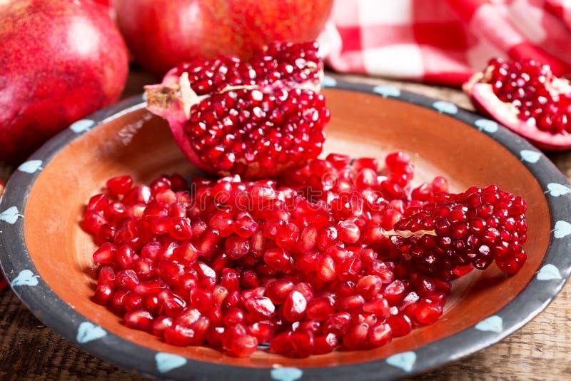 nytt pomegranatefrö arkivfoto