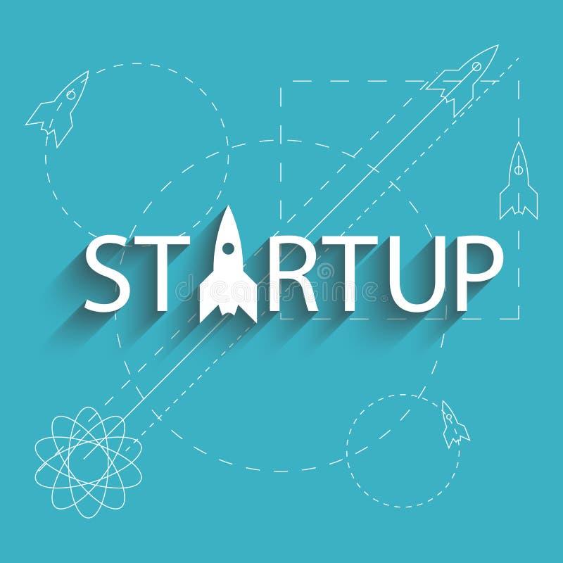 Nytt projektföretag för Startup framgång, plan av utvecklingsaffären stock illustrationer