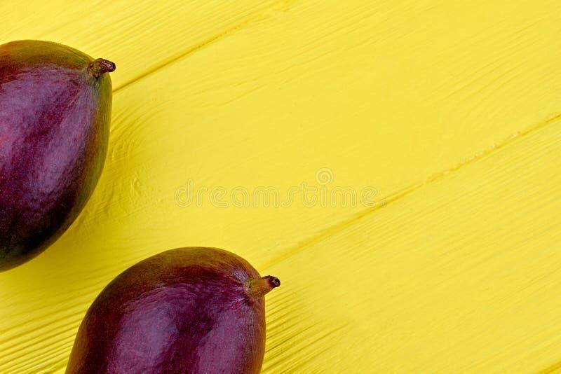 Nytt purpurfärgat mango- och kopieringsutrymme royaltyfria bilder
