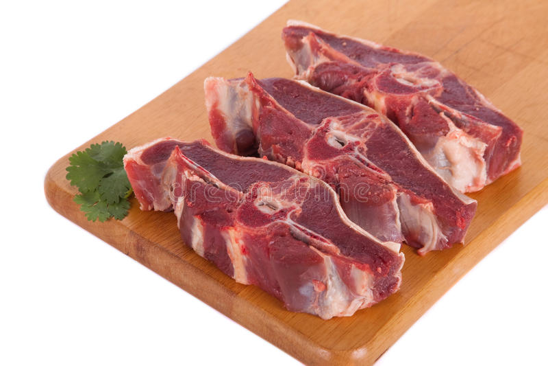 Nytt rått kött royaltyfri fotografi