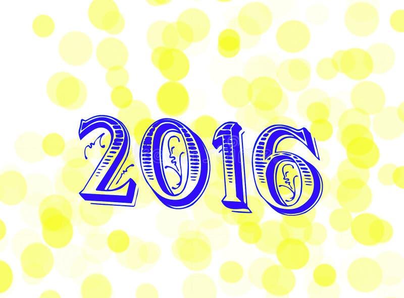 nytt s år för dag 2016 fotografering för bildbyråer