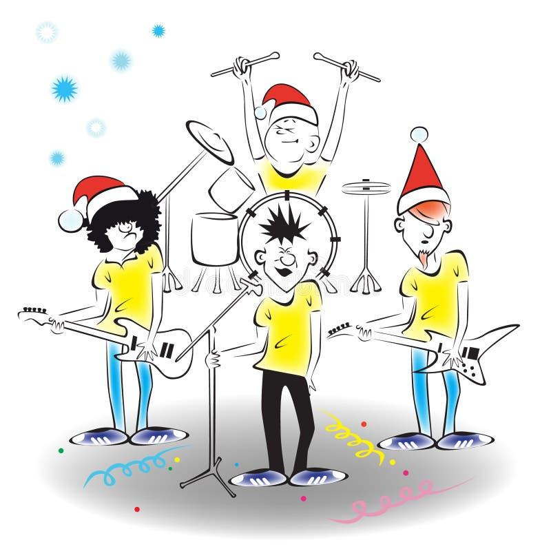 nytt s år för konsert royaltyfri illustrationer