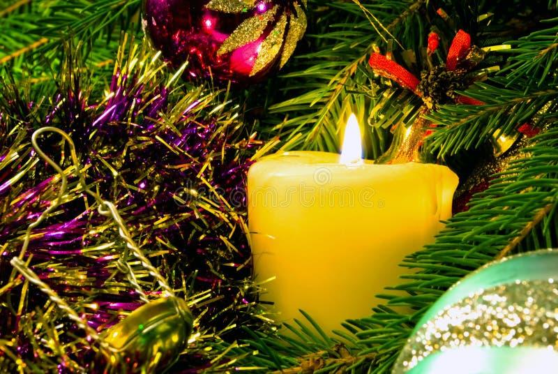 nytt s fortfarande år för burning stearinljuslivstid royaltyfri foto