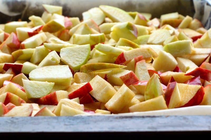 Nytt skivade äpplen royaltyfri foto