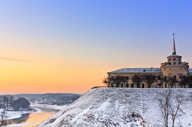 Nytt slott i Grodno fotografering för bildbyråer