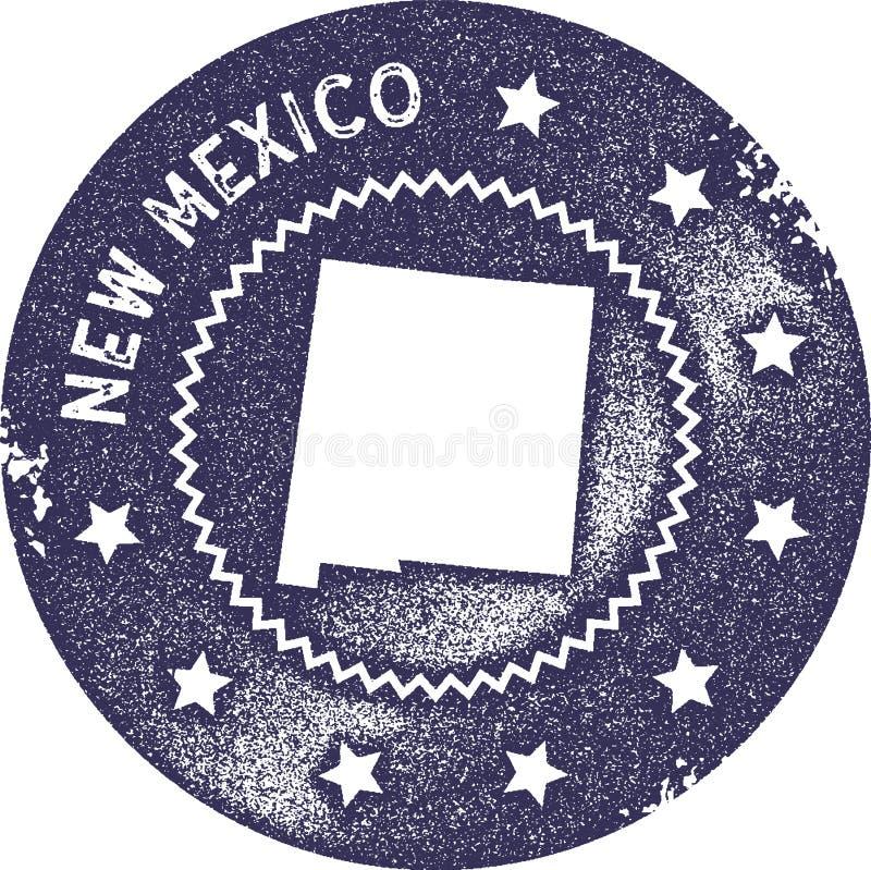 Nytt - st?mpel f?r Mexiko ?versiktstappning vektor illustrationer