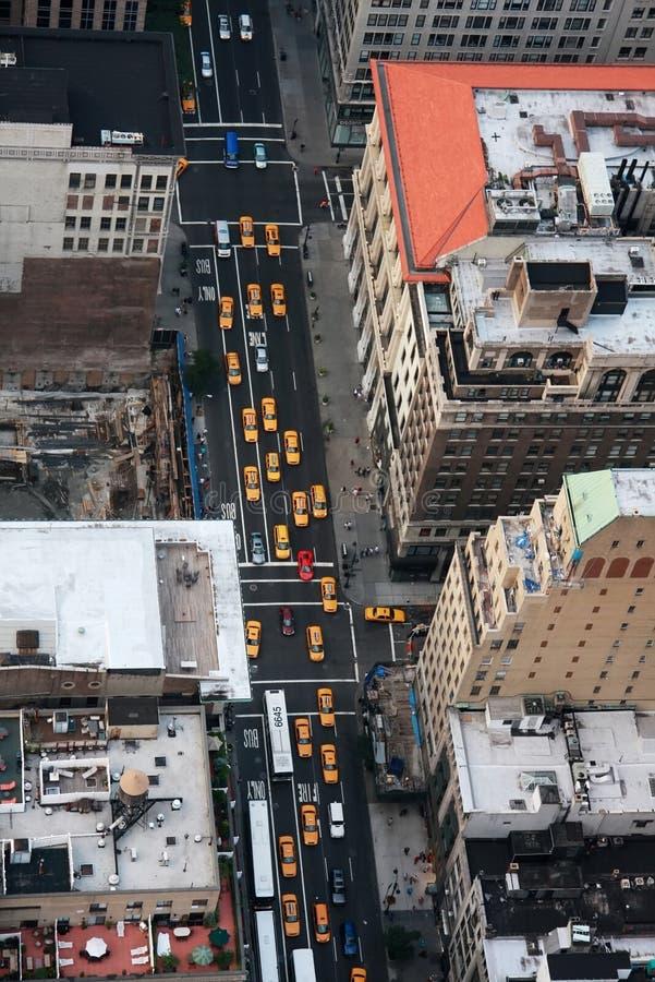 nytt taxar yeloow york arkivbild