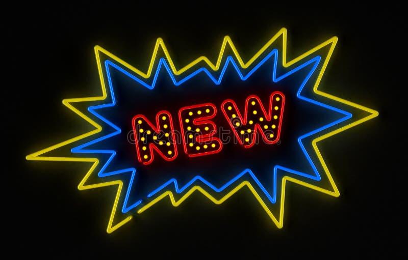 nytt tecken för neon royaltyfri illustrationer