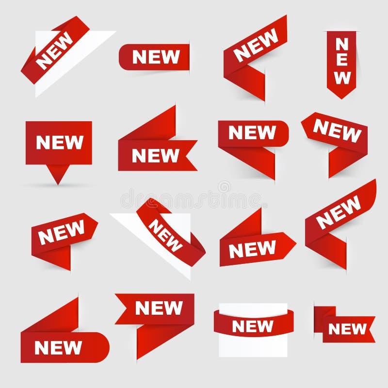 nytt tecken nya tecken stock illustrationer