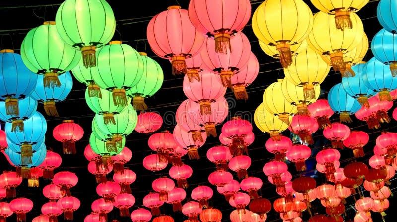 nytt traditionellt år för kinesisk lykta arkivbilder
