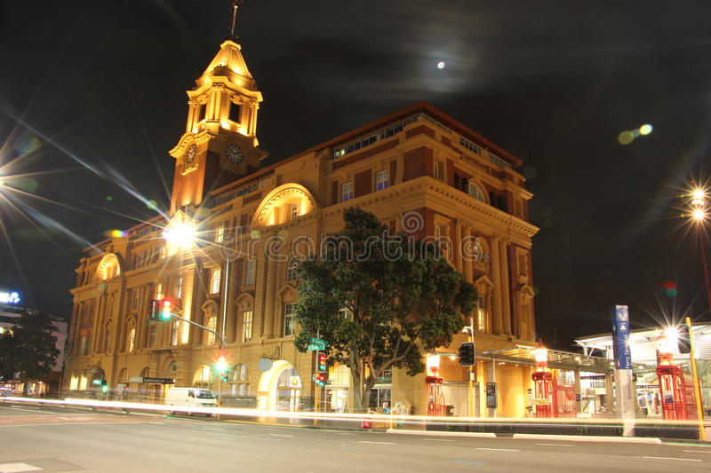 NZ, Auckland city by night stock images