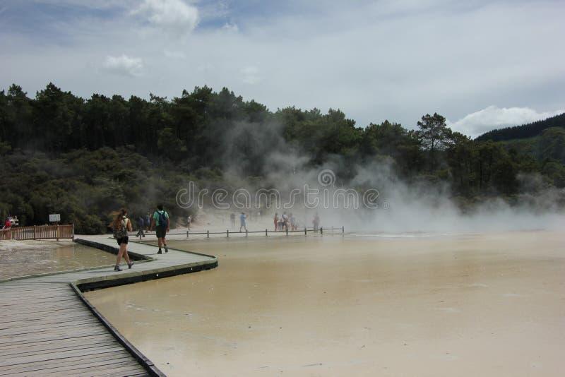 NZ, North Island, Waiotapu Thermal Wonderland, Rotorua royalty free stock photos
