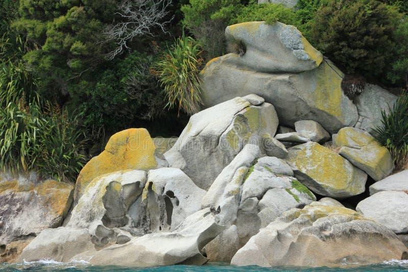 NZ, South Island, Coastal view Abel Tasman National Park stock photos