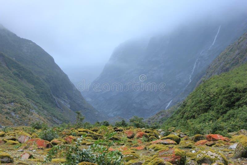 NZ, South Island, Franz Josef Glacier summer view royalty free stock photo