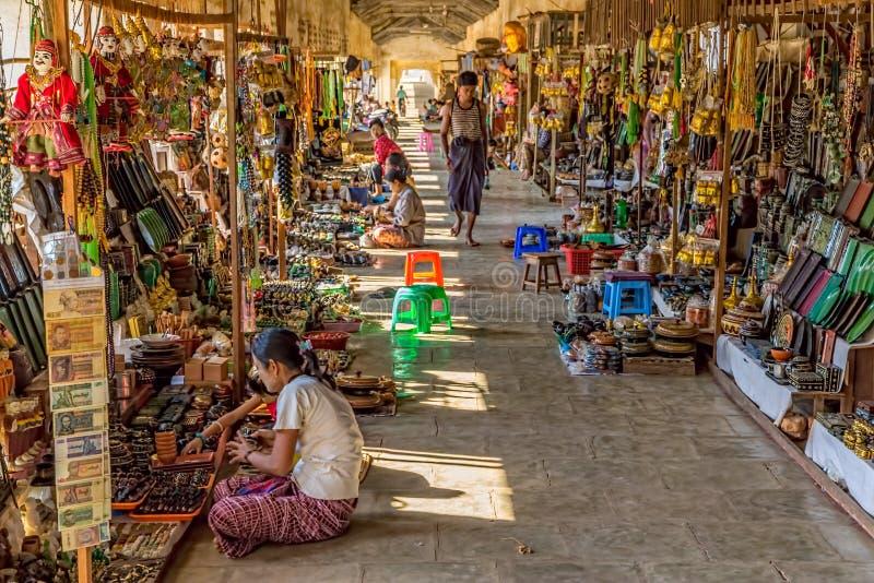 NZAUNG-U, MYANMAR - Street market