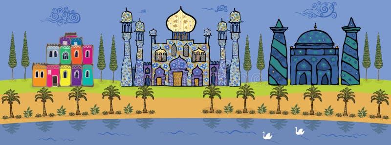 Download Oásis ilustração stock. Ilustração de grupo, brisa, mali - 26501239