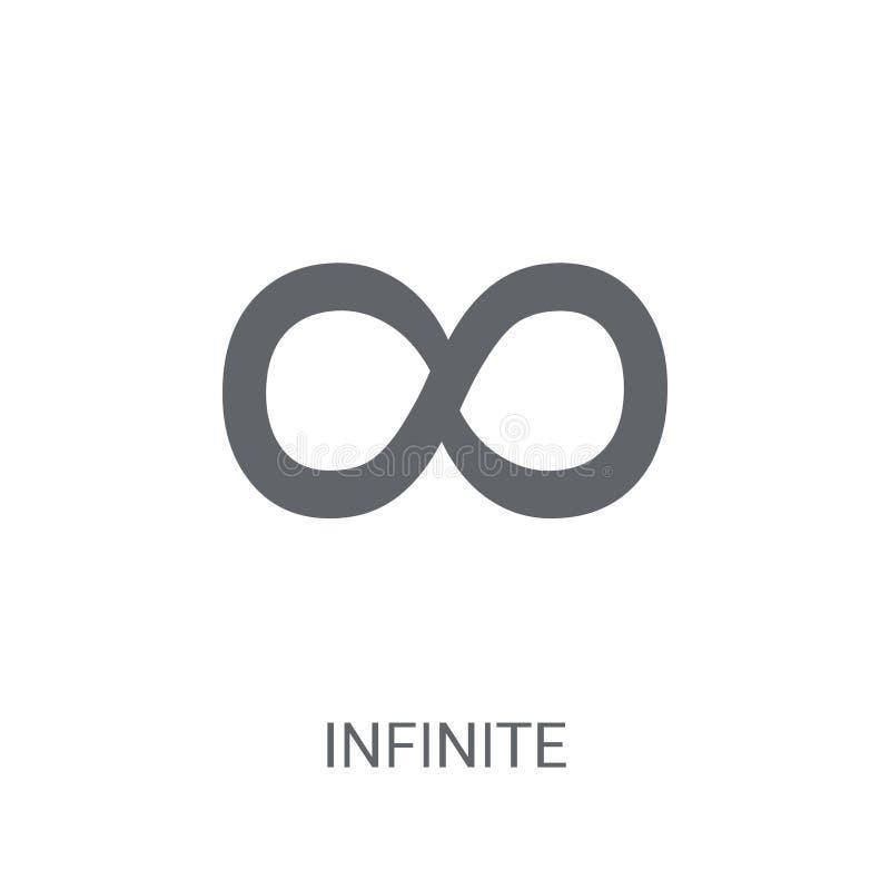oändlig symbol Moderiktigt oändligt logobegrepp på vit bakgrund vektor illustrationer