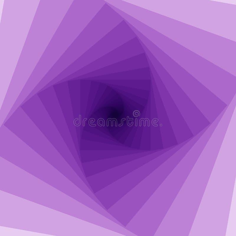 Oändlighetsbakgrund, abstrakt illustration för virvelfyrkanter purpurt royaltyfri illustrationer