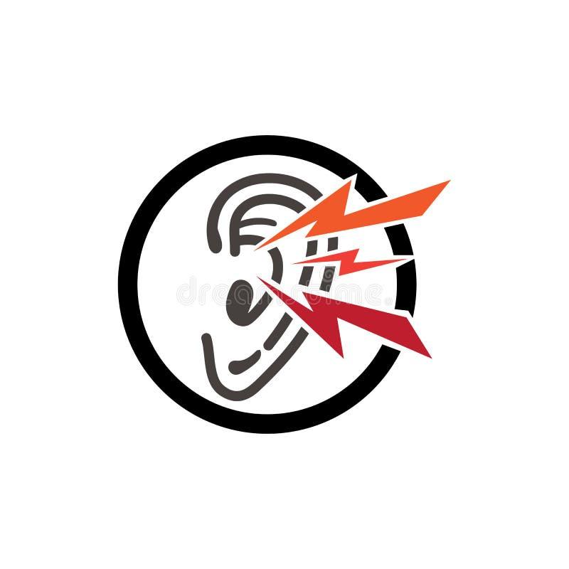 oído y diagnosticar el desain y el vector del logotipo de la salud ilustración del vector
