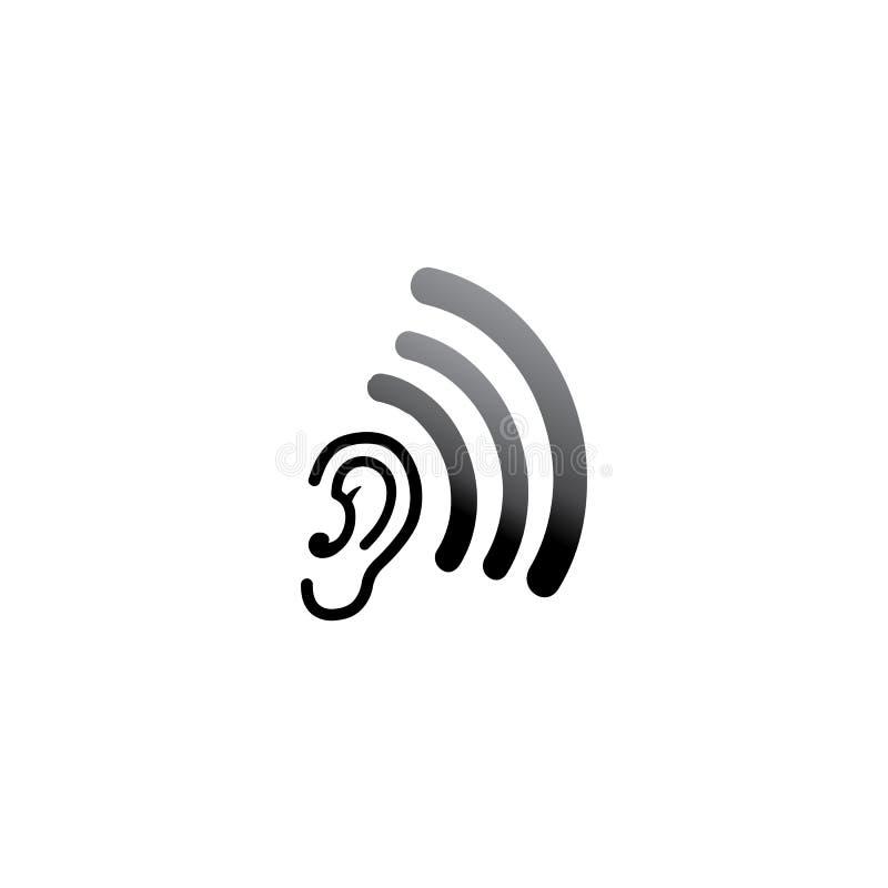 oído y diagnosticar el desain y el vector del logotipo de la salud libre illustration