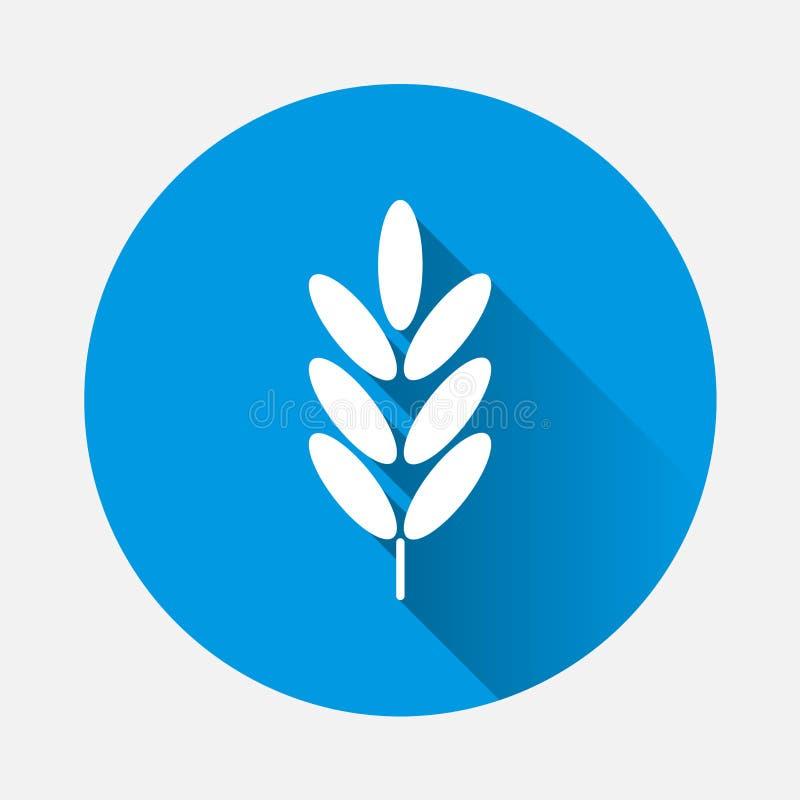 Oídos del trigo, icono del vector del cereal Oído de la avena oídos del centeno con a ilustración del vector