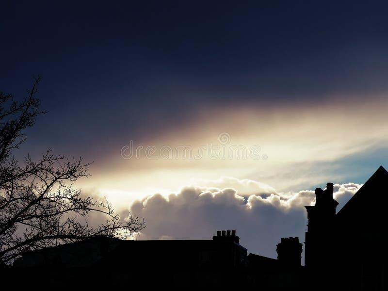 Облака после дождя стоковое изображение rf