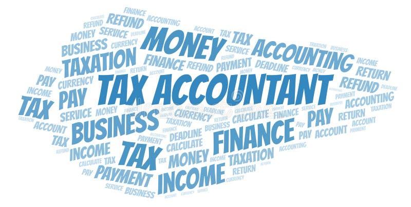 Облако слова бухгалтера налога бесплатная иллюстрация