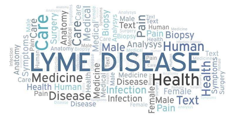 Облако слова заболеванием Lyme бесплатная иллюстрация
