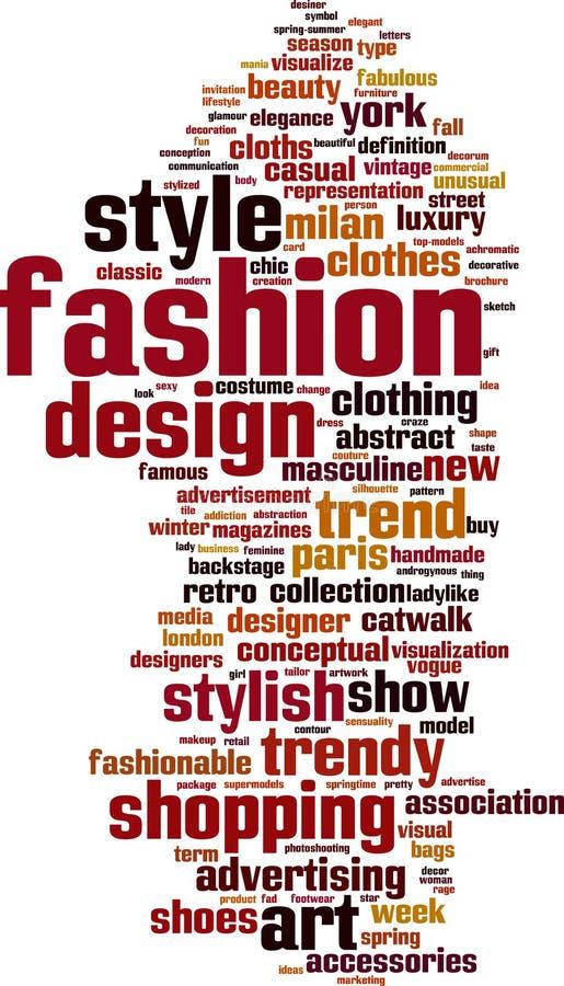Облако слова моды бесплатная иллюстрация