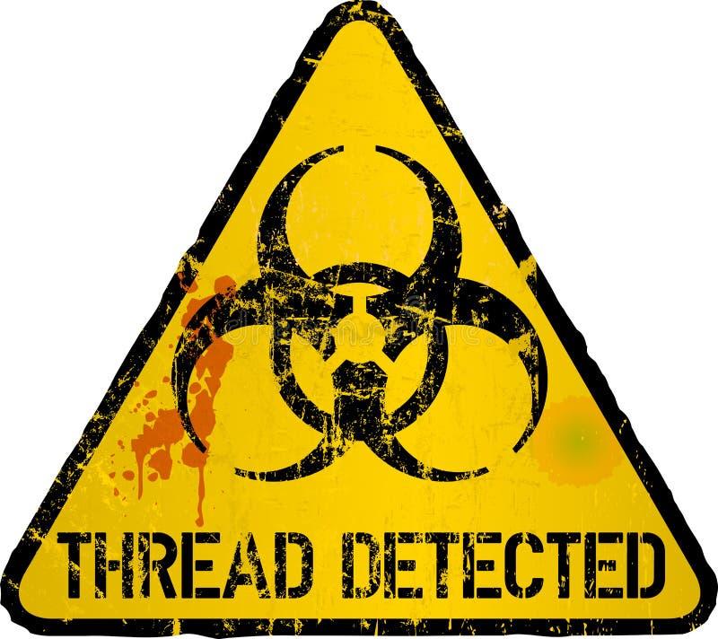 Обнаружение компьютерного вируса, предупредительный знак потока, иллюстрация вектора иллюстрация вектора