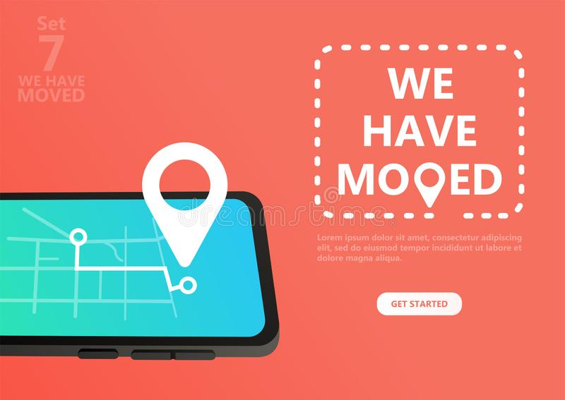We have moved vector illustration concept. vector illustration