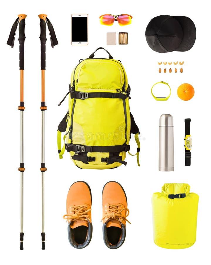 Оборудование и шестерня спорта для пешего туризма и trekking стоковая фотография rf