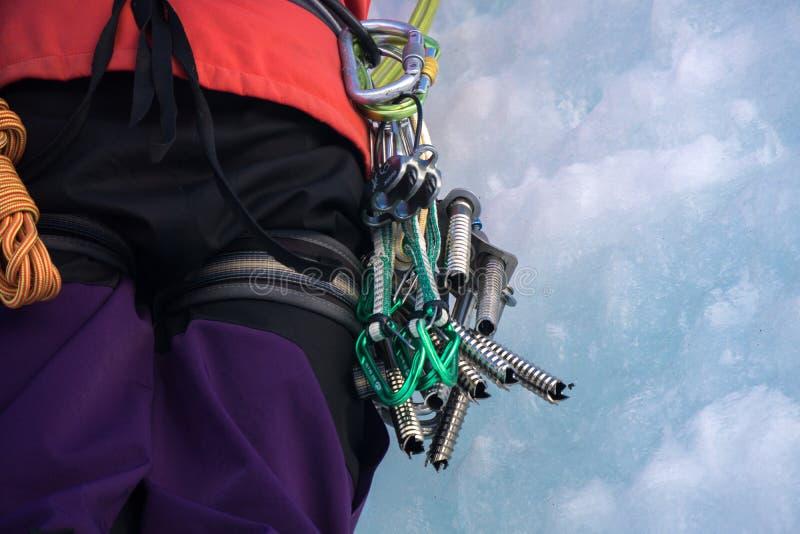 Оборудование для iceclimbing стоковое фото rf