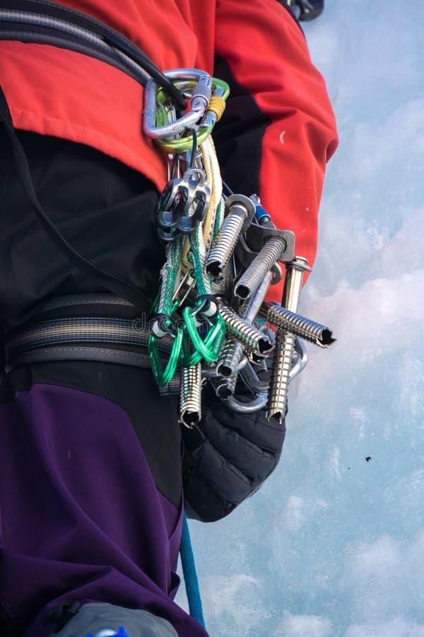 Оборудование для iceclimbing стоковые фото