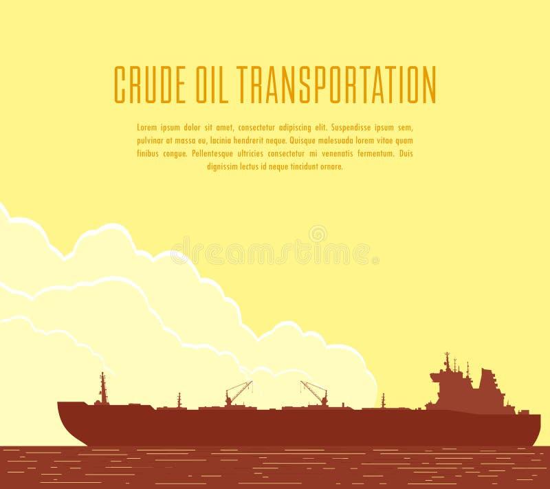 Огромный нефтяной танкер также вектор иллюстрации притяжки corel иллюстрация штока