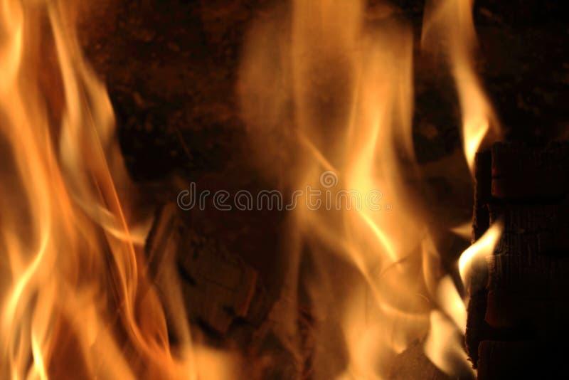 Огонь. Пламя. Горящие дрова в камине. No, not something more royalty free stock photography